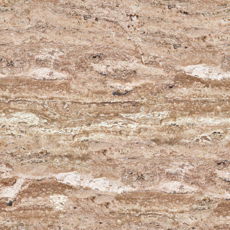 Superficie de la piedra del travertino en primer Textura abstracta Seaml fotos de archivo