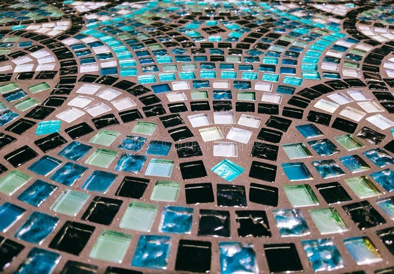 Superficie de la tabla hecha del mosaico de cristal imagen de archivo libre de regalías