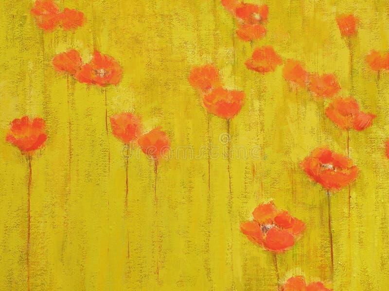 Superficie de la textura de la pintura al óleo ilustración del vector