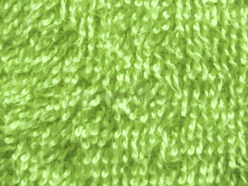 Superficie de la textura de la toalla de baño verde foto de archivo