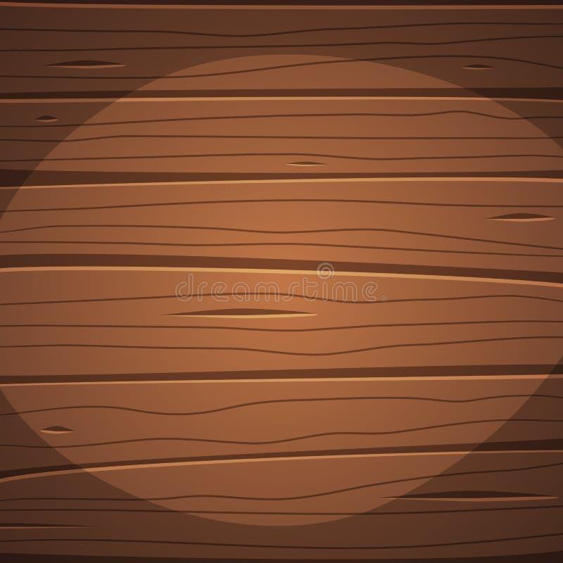 Superficie de madera de la historieta ilustración del vector