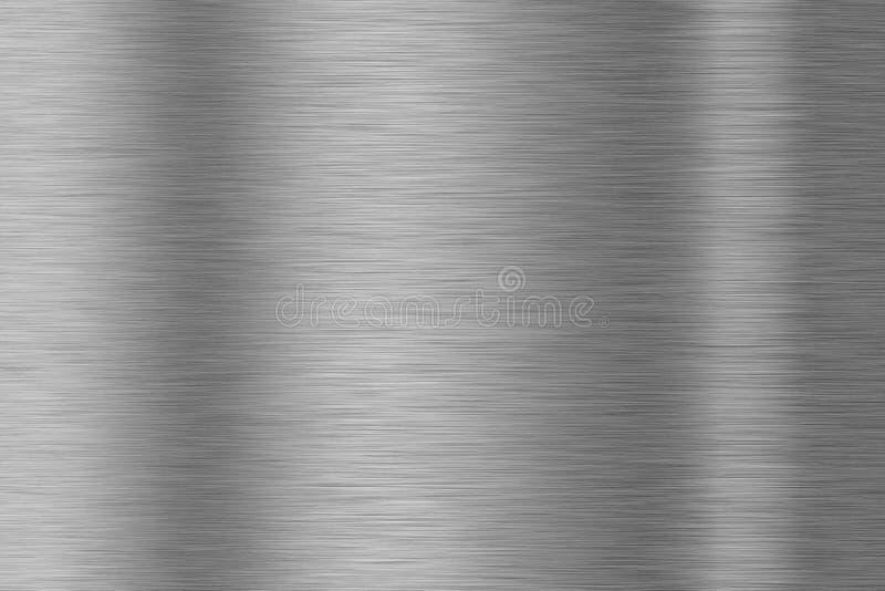 Superficie de metal aplicada con brocha con puntos culminantes múltiples stock de ilustración