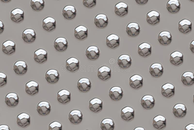 Superficie de metal con los remaches stock de ilustración