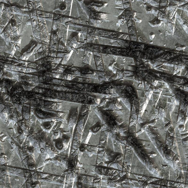 Superficie de metal destrozada stock de ilustración