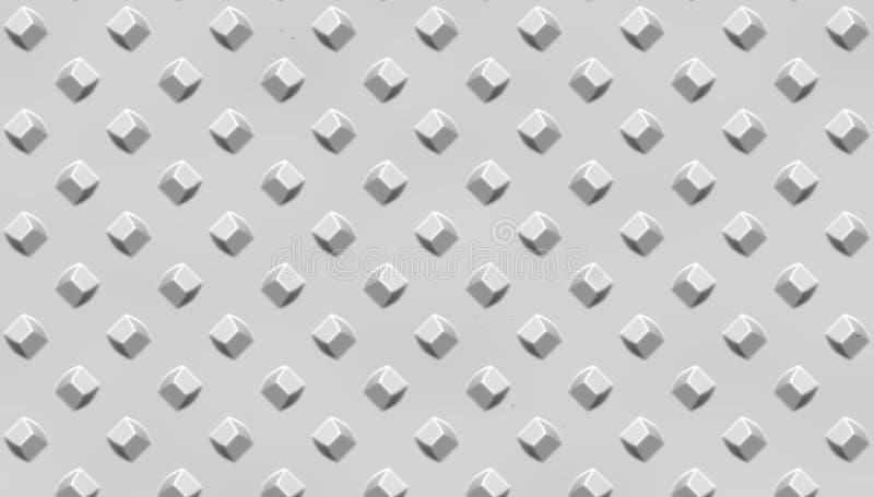 Superficie de metal gris adornada El metal clava el modelo Fondo de acero abstracto ilustración del vector