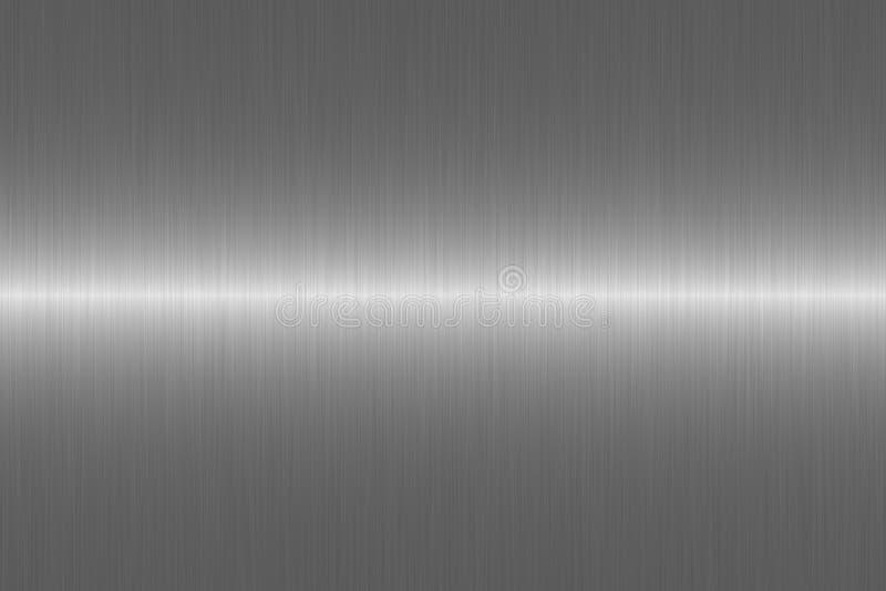 Superficie de metal gris cepillada del color Ilustración del vector ilustración del vector