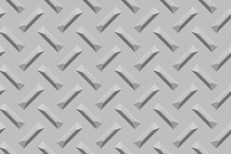 Superficie de metal marcada con rayitas cruzadas stock de ilustración