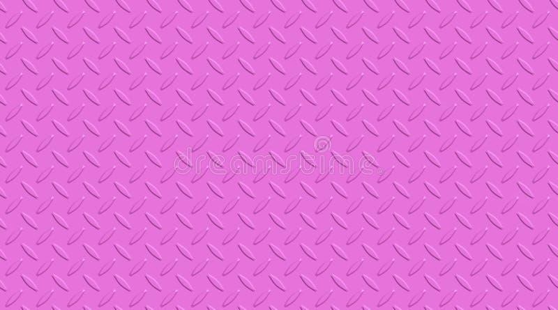 Superficie de metal rosada adornada El metal clava el modelo Fondo de acero abstracto ilustración del vector
