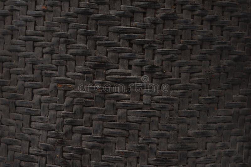 Superficie de mimbre del estilo del modelo de la naturaleza de la textura tailandesa del fondo para el material de los muebles, f imagen de archivo