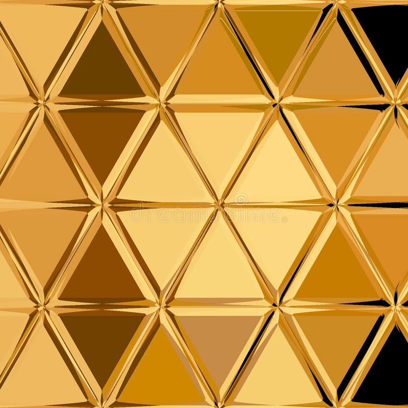 Superficie de oro anaranjada del remiendo del triángulo stock de ilustración