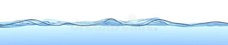 Superficie del agua con las ondas y las ondulaciones. ilustración del vector