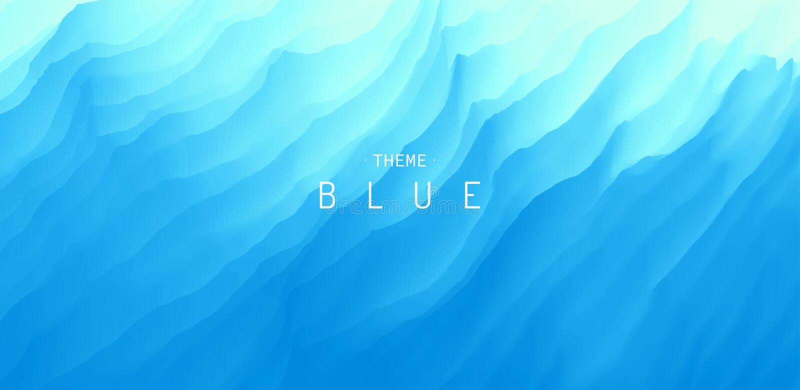 Superficie del agua Fondo abstracto azul Ilustración del vector para el diseño stock de ilustración