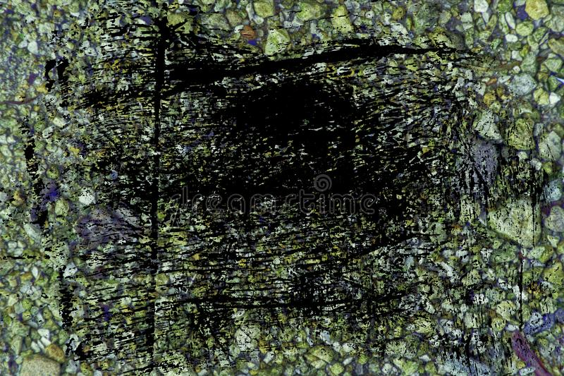 Superficie del ciottolo di tecnica di lerciume, struttura di pietra o contesto della roccia, fondo al suolo immagine stock libera da diritti