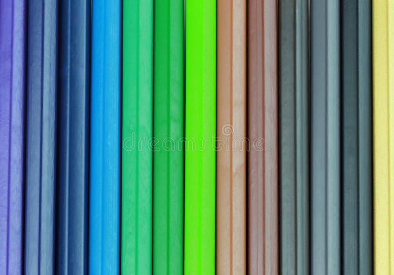 Superficie del fondo colorido del creyón imagen de archivo