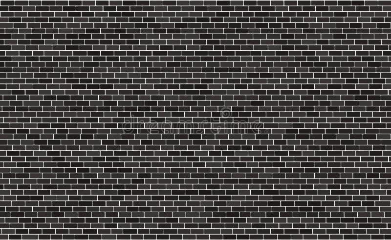 Superficie del fondo del modelo del negro de la pared de ladrillo, ejemplo Estructura de bloque de piedra, papel pintado urbano d ilustración del vector