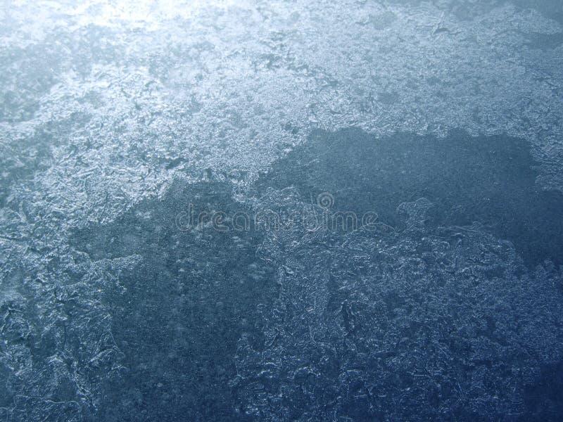 Superficie del ghiaccio del lago fotografia stock