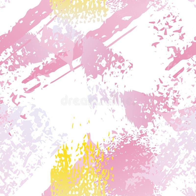 Superficie del movimiento del cepillo de la salpicadura Acuarela sin fin libre illustration