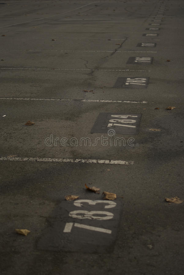 Superficie del parcheggio fotografia stock libera da diritti