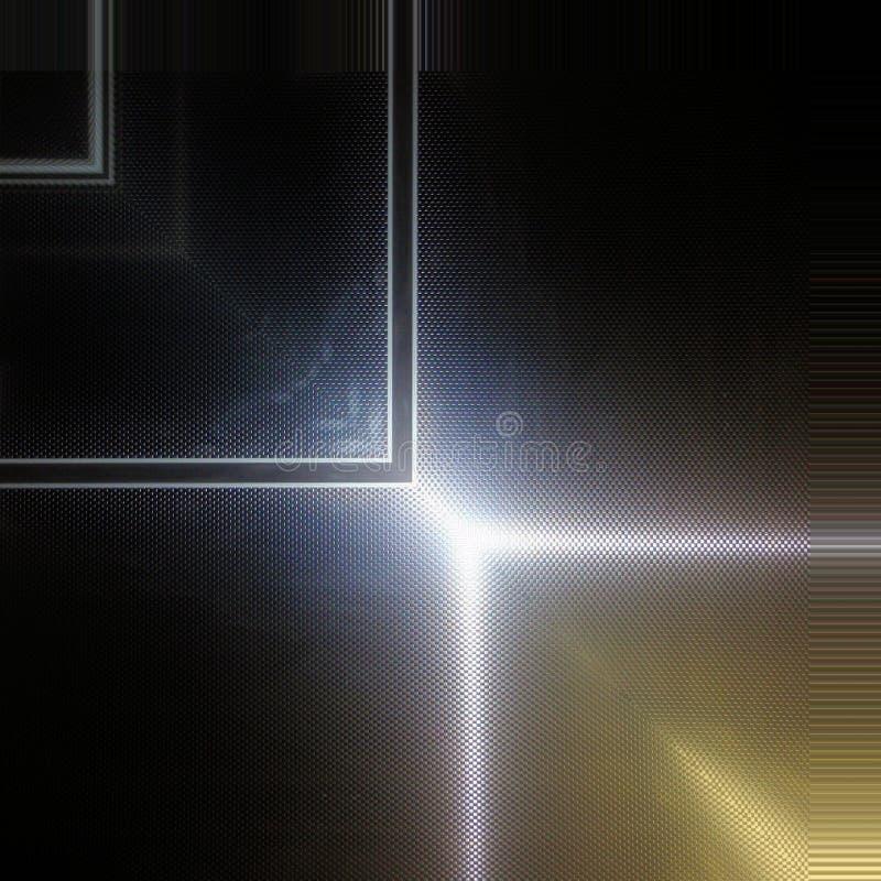 Superficie dell'alluminio Fondo geometrico metallico di struttura fotografia stock libera da diritti