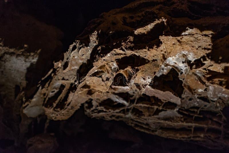 Superficie della caverna dentro la caverna del vento immagine stock