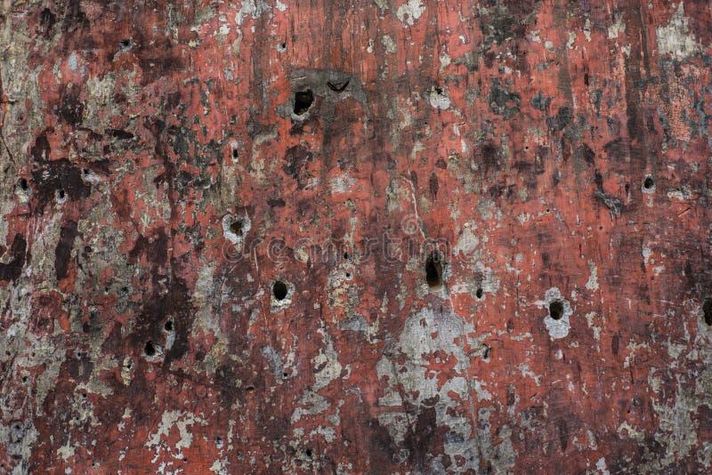 Superficie della parete con i fori di pallottola immagine stock libera da diritti
