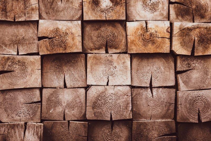 Superficie di legno di Brown del quadrato Pavimento di legno d'annata Stile rustico, fondo di legno naturale scuro Modello, strut fotografie stock libere da diritti