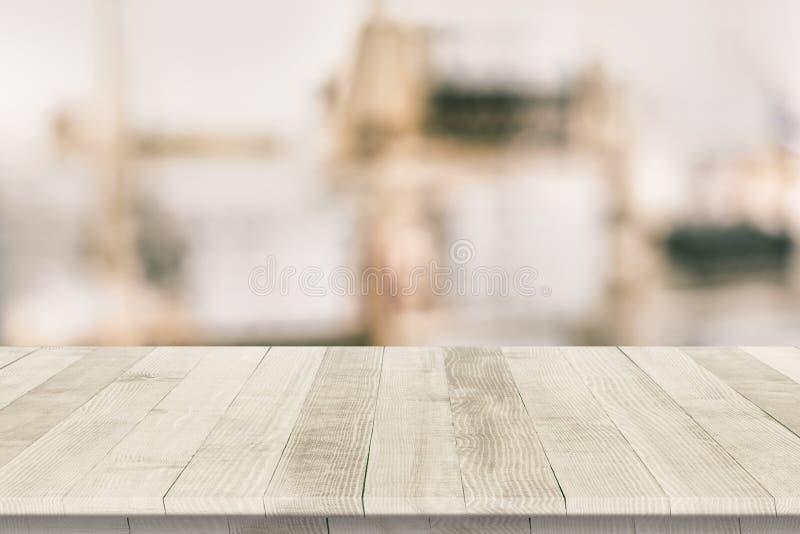 Superficie di legno misura di piano di lavoro fotografie stock libere da diritti