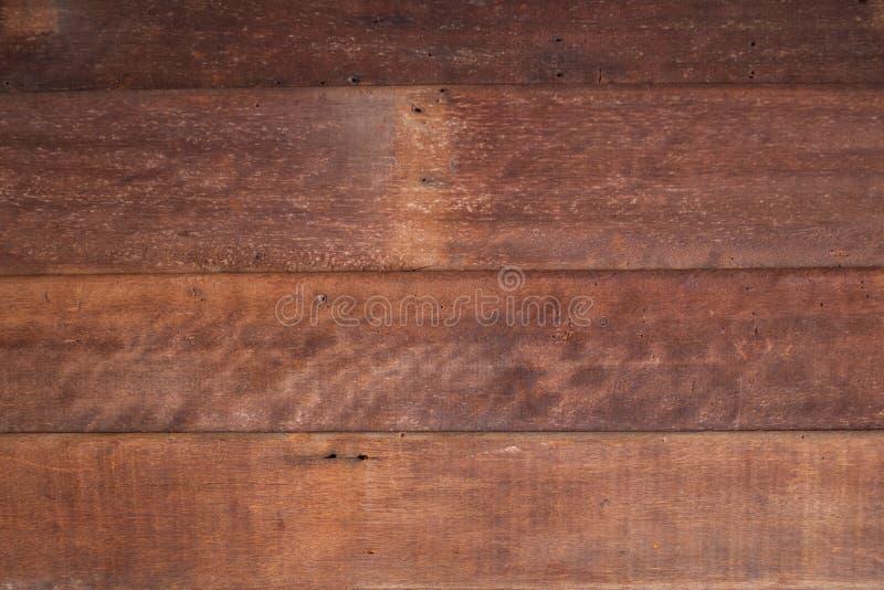 Superficie di legno scura del fondo di struttura con il vecchio modello naturale, plance di legno immagini stock libere da diritti