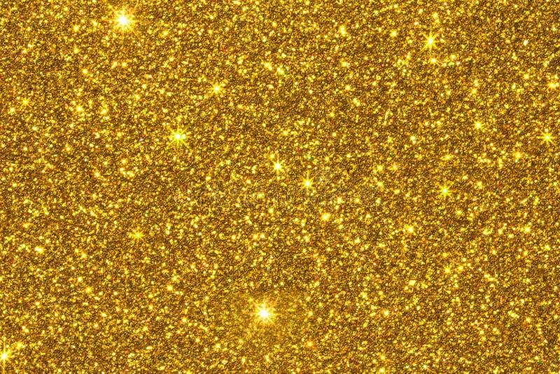 Superficie di struttura di scintillio dell'oro fotografia stock libera da diritti