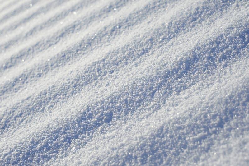 Superficie diagonal rayada abstracta de la nieve imagen de archivo