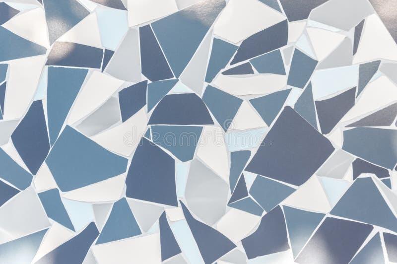 Superficie geométrica gris del diseño del extracto del fondo y blanca azul de cerámica lisa del modelo foto de archivo libre de regalías
