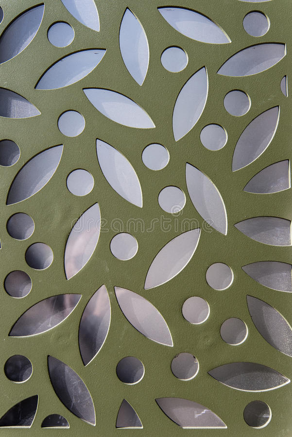 Superficie geometrica metallica immagine stock
