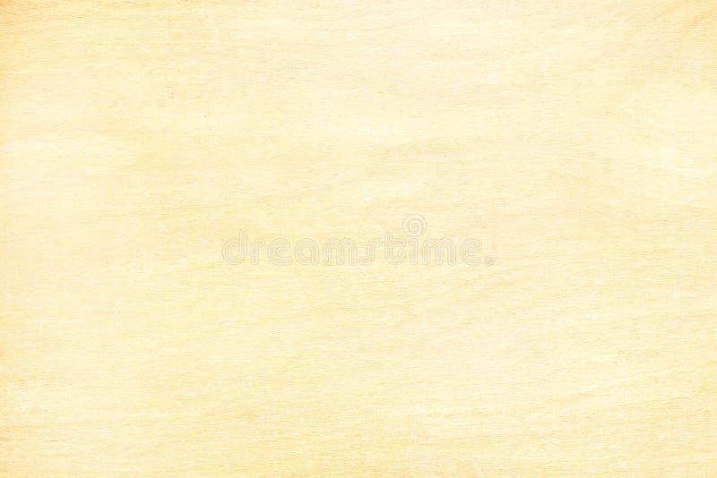 Superficie gialla del bordo del compensato per fondo con il modello naturale fotografia stock