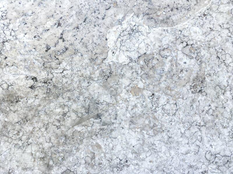 Superficie lisa de la piedra blanca de mármol vieja Fondo del mineral de la textura foto de archivo libre de regalías