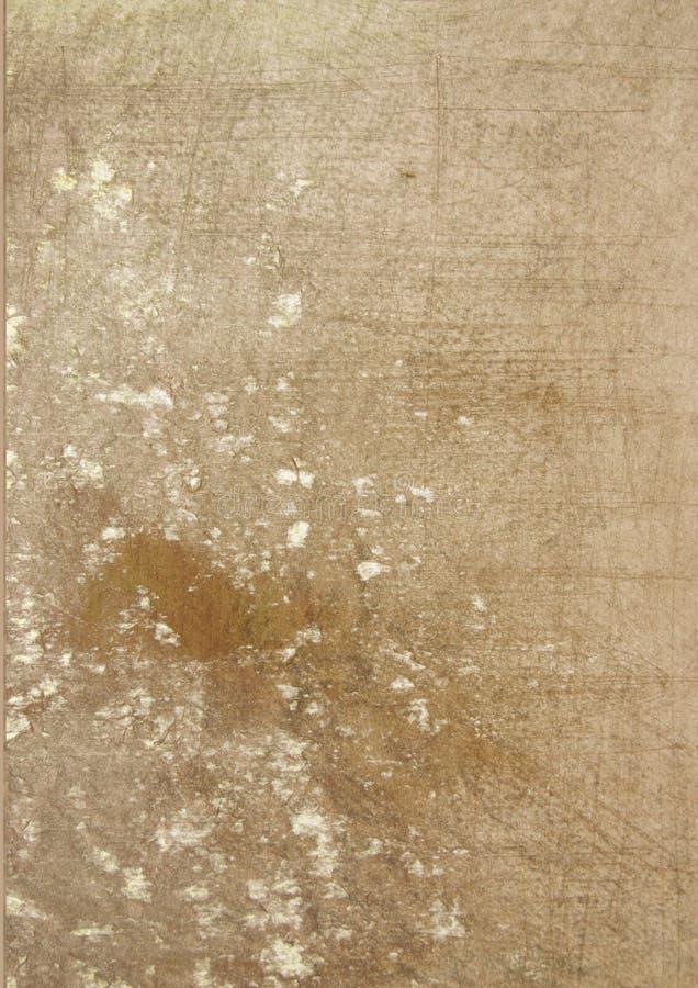 superficie manchada marrón del grunge ilustración del vector