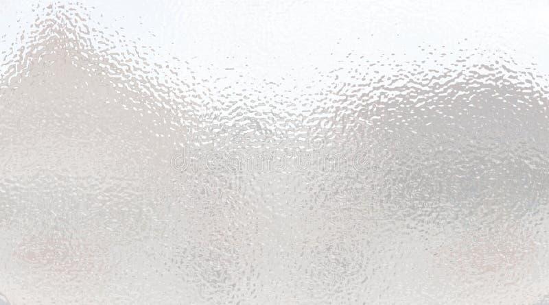 Superficie mate ligera Vidrio helado Fondo gris blanco de la pendiente stock de ilustración