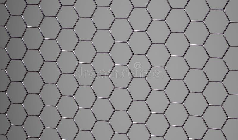 superficie metálica gris abstracta brillante 3D fotos de archivo