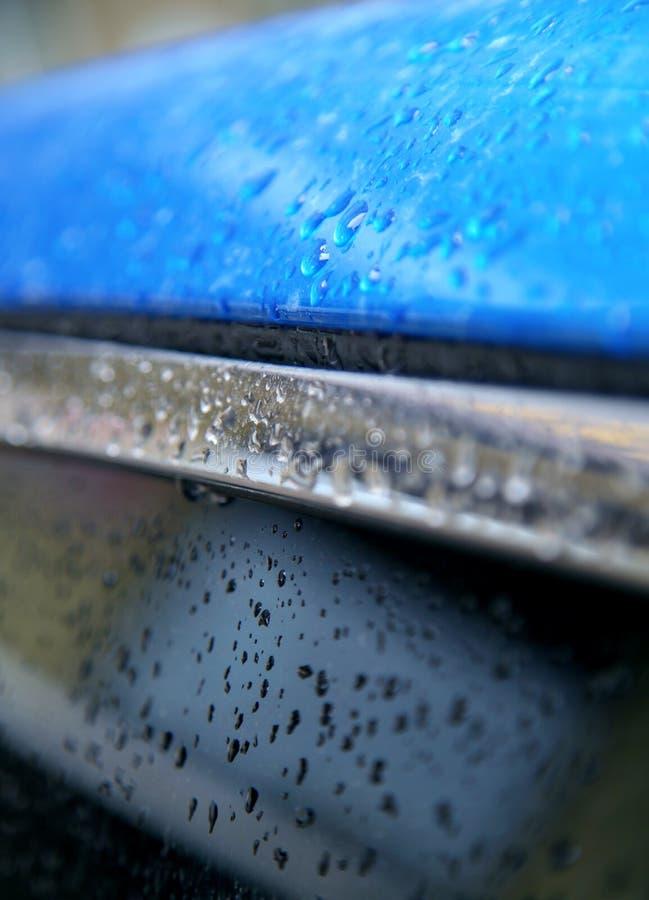 Superficie met?lica azul imagenes de archivo