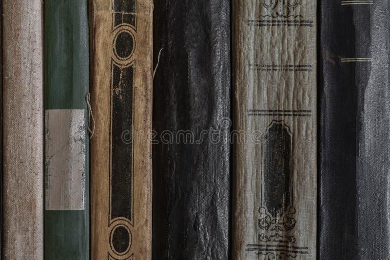 Superficie molto vecchia e polverosa del fondo delle coperture laterali del libro immagine stock libera da diritti