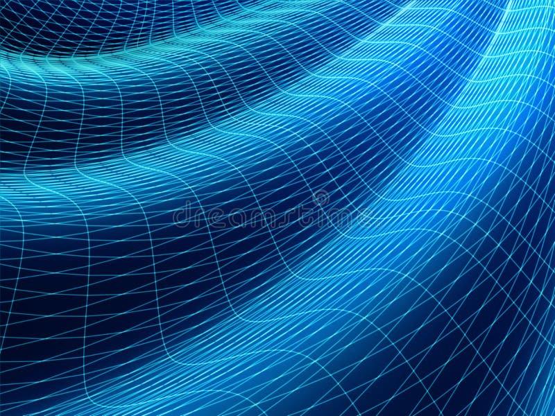 Superficie ondulada ilustración del vector