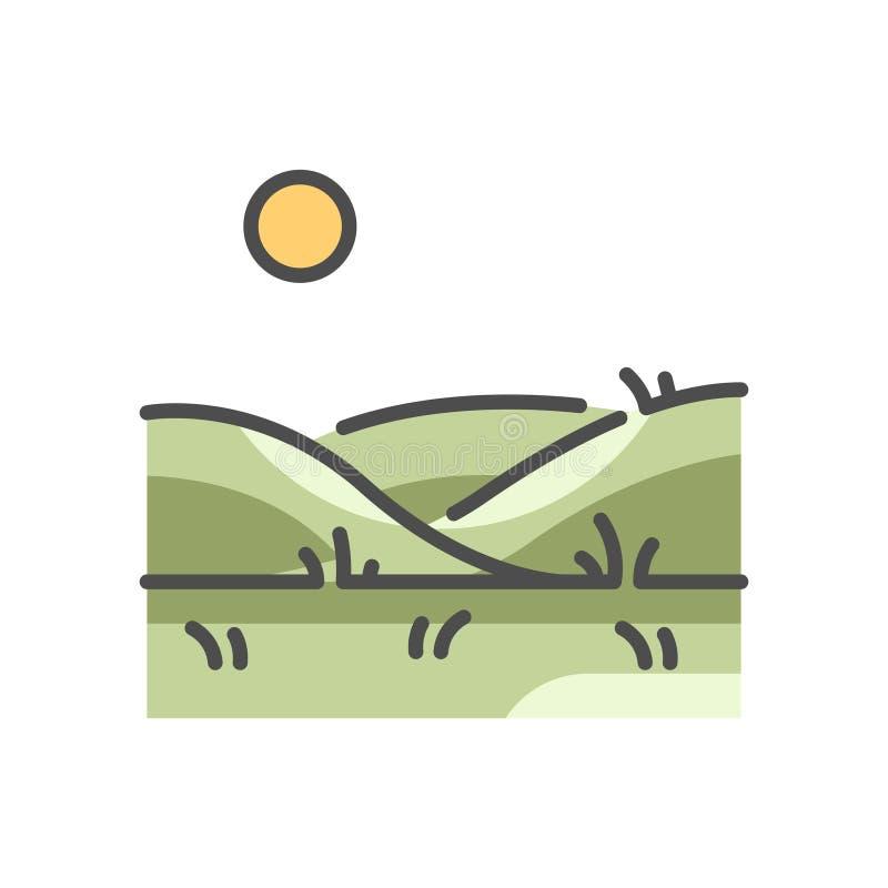 Superficie a pascolo illustrazione vettoriale