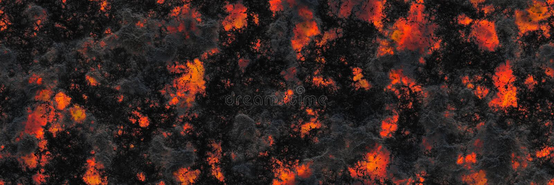 Superficie que brilla intensamente quemada del carbón de leña de los carbones Modelo abstracto de la naturaleza stock de ilustración
