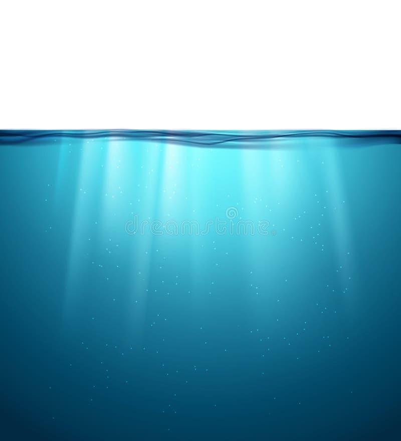 Superficie subacquea dell'oceano Priorità bassa dell'acqua blu Pulisca il contesto subacqueo del mare della natura royalty illustrazione gratis