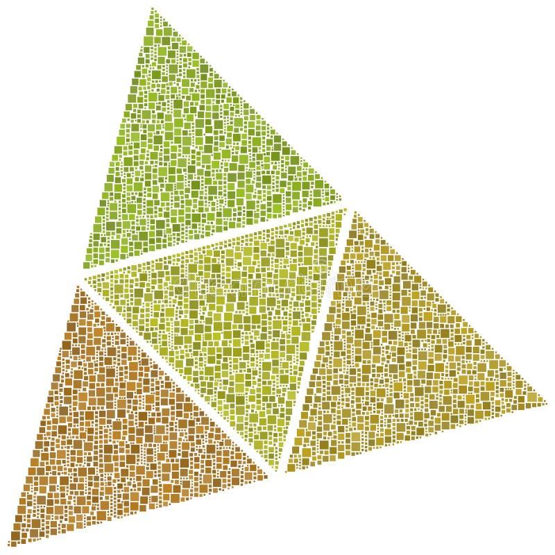 Superficies de un tetraedro ilustración del vector