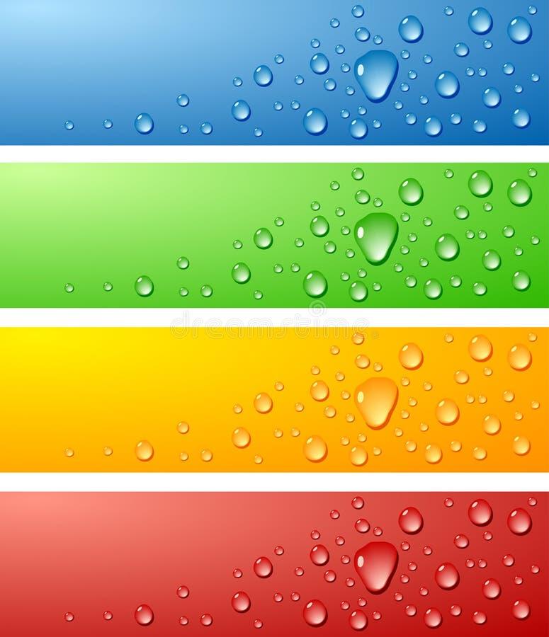 Superficies mojadas. ilustración del vector