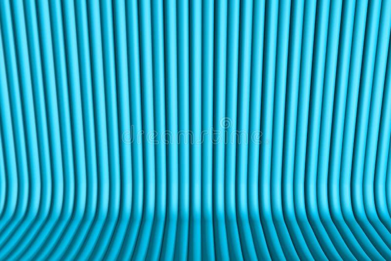 Superficies volumétricas formadas con la forma sacada del corazón, el 14 de febrero concepto - ejemplo azul claro agradable 3D de stock de ilustración