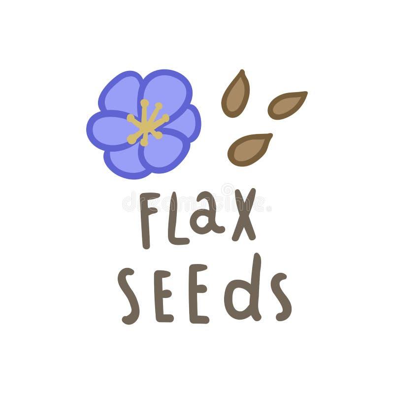 Superfood das sementes de linho ilustração stock