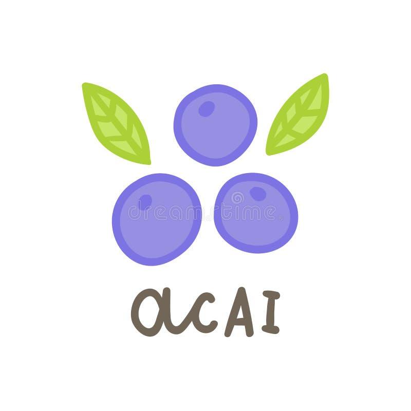 Superfood de las bayas de Acai ilustración del vector