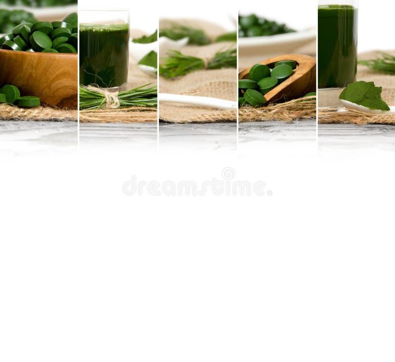 Superfood mieszanki plasterki zdjęcie stock