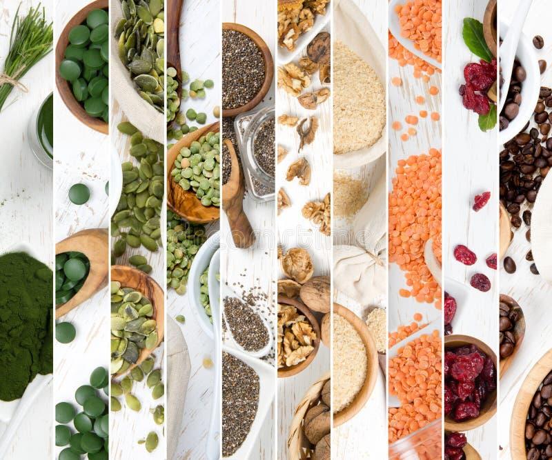 Superfood mieszanki plasterki obrazy royalty free